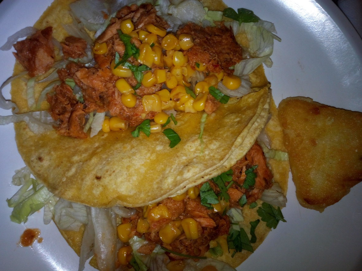 Pulled Salmon Tacos