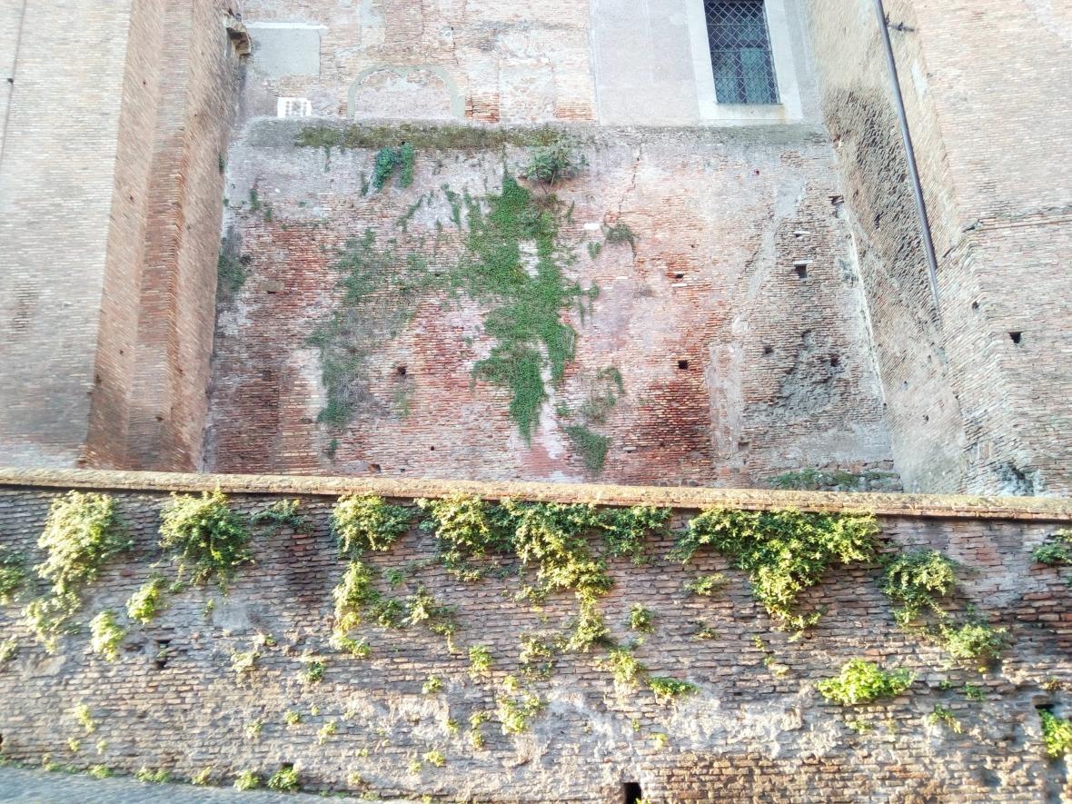 Walls surrounding the Basilica