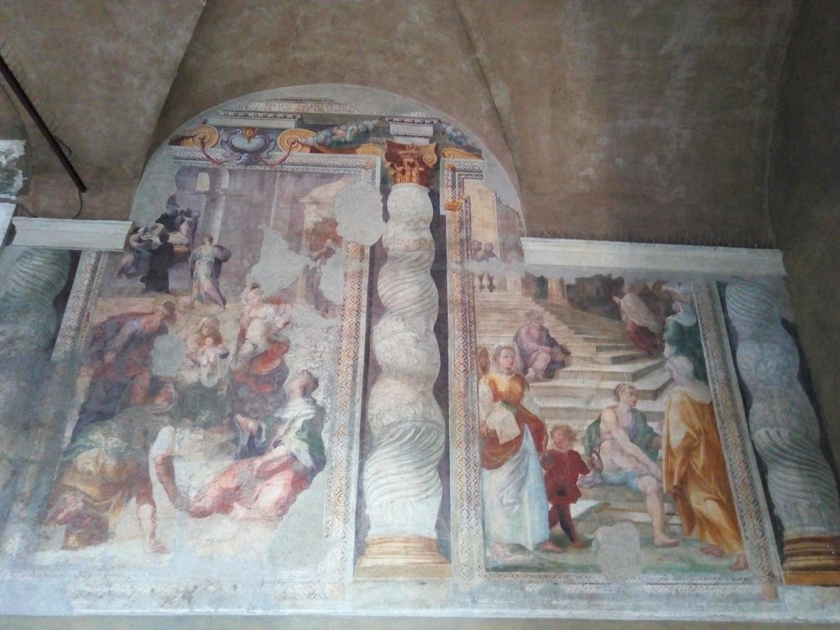 Outside frescoes
