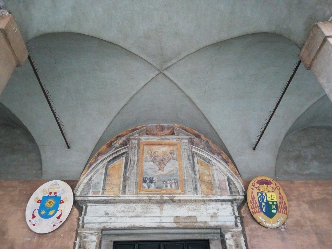 Above the entrance to the Basilica