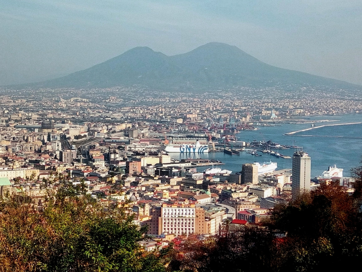 The view on Naples and Vesuvio