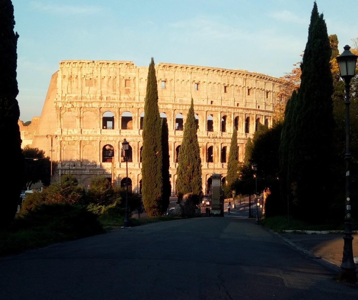 View from Via della Domus Aurea