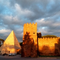 Rome - Pyramid of Cestius and Porta San Paolo