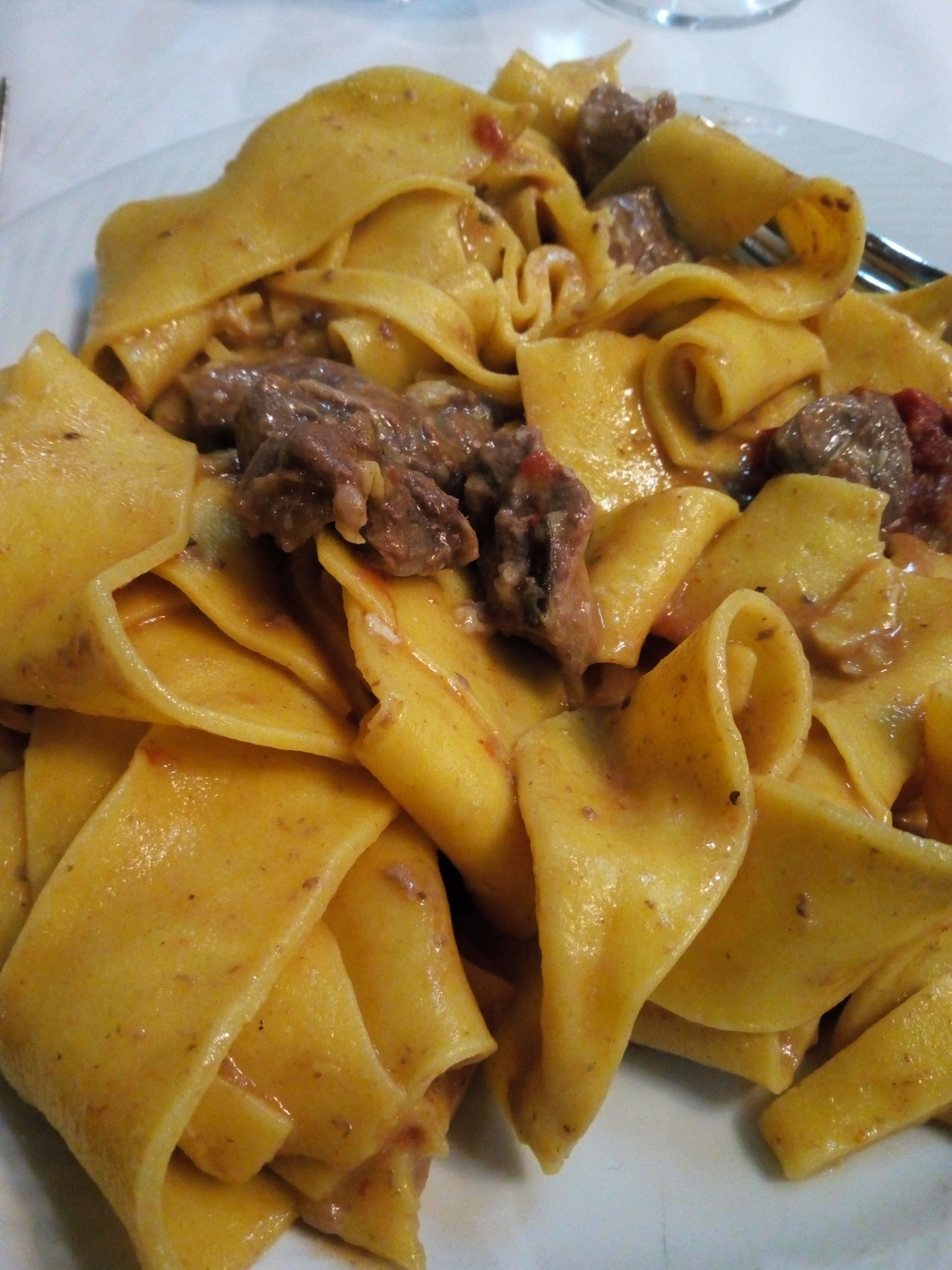 Pappardelle in bianco al cinghiale