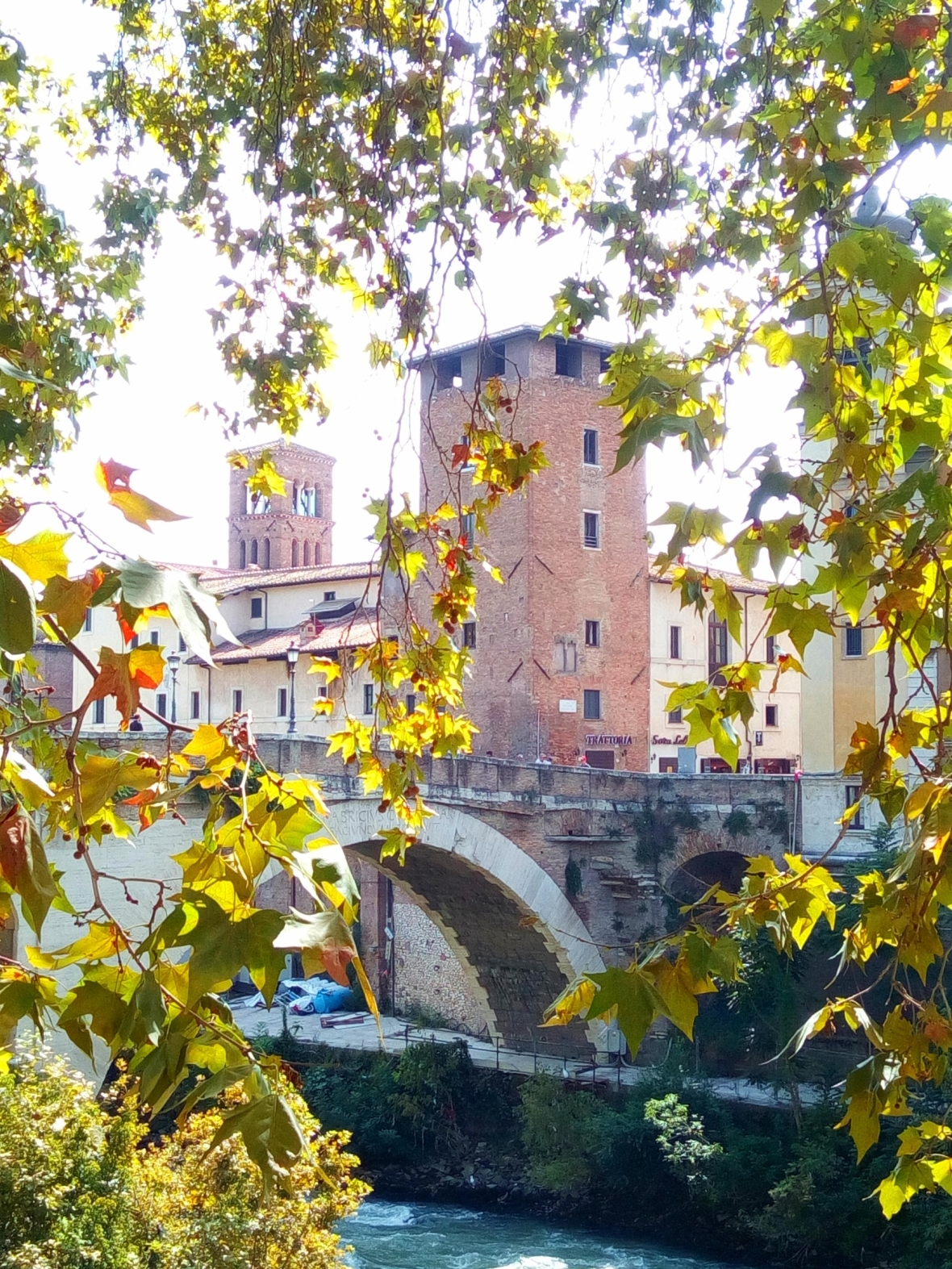 One of the bridges that connect Isola Tiberina to the rest of the city