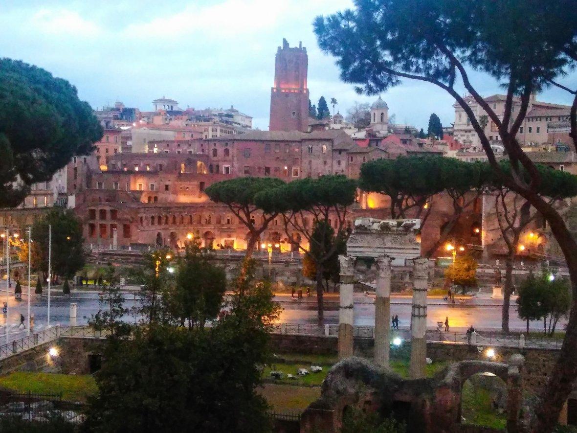 Via dei Fori Imperiali, view from Campidoglio