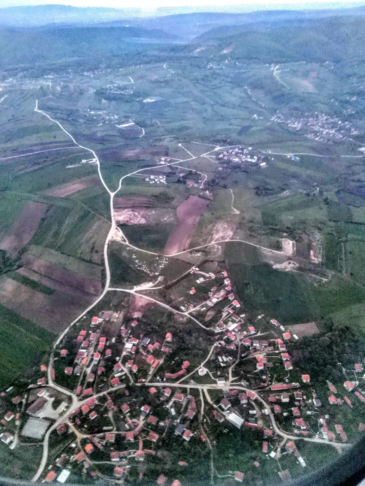 Flying above Kosovo